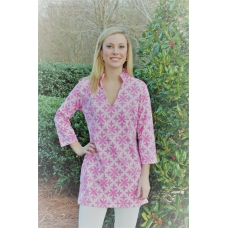 Erma's Closet Pink on Pink Vneck Tunic